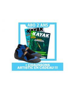 2 ANS d'abo à Canoe Kayak Mag + Chaussons Artistic en cadeau